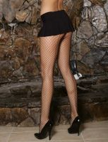 Fishnets w/Attached Panty